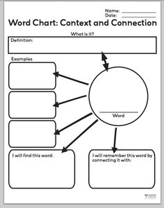 Best free vocabulary graphic organizers graphic for Vocabulary graphic organizer templates