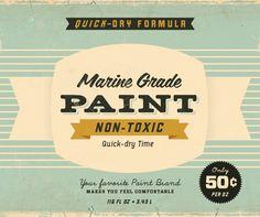Vintage Typography - Packaging