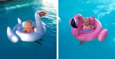 Get those little ones in on the swimming action with this fun inflatable swan. Let those cute babies splash around in style this summer. Perfect for ages 8-24 months.