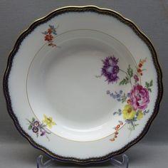 MEISSEN SUPPENTELLER D=24 cm, A - KANTE MIT BLUMENMALEREI, 1. WAHL, (Nr. 1/5) in Antiquitäten & Kunst, Porzellan & Keramik, Porzellan | eBay