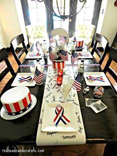 Patriotic Table-Scape Ideas