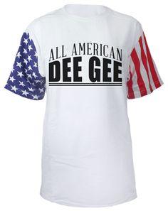 656386274384 Delta Gamma Anchor American Flag Sleeves Tshirt