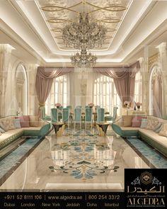 Luxury Decor, Luxury Interior Design, Ceiling Design, Elegant Dining Room, Dining Room Design, Salon Chic, Moroccan Decor, Luxury Homes, Drawing Room