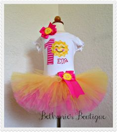 Hey, I found this really awesome Etsy listing at https://www.etsy.com/listing/185913016/you-are-my-sunshine-birthday-tutu-set