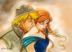 "Breathe You In... by kara-lija.deviantart.com on @deviantART - Kristoff and Anna from ""Frozen"""