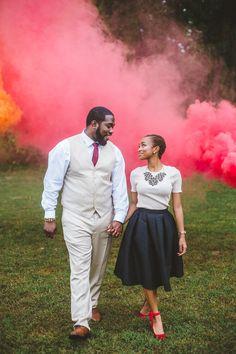 Angelica & Kern - Smoke Bomb Engagement, Wandermore Photography