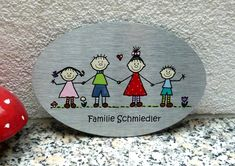 Türschild we are family von KirSchenrot via dawanda.com