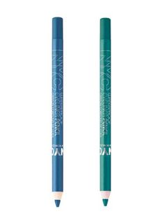 """@NYC New York Color @Influenster #NYCNewYorkColor Waterproof Eyeliner Pencil in """"Teal"""" and """"Sky High"""""""