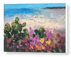 """Cactus Flowers on the Beach Wall Art Canvas Seascape Prints Sand Sea Artwork Modern Ocean Poster Abstract Home Decor Living Room Office Decor Christmas Gifts from Original Painting of Agostino Veroni. *****Please have in mind that it takes 5 to 7 days to finish the product and 3 days to ship it. You can be certain that your order will be in your hands within 10 days of purchase. ***** This large canvas print comes ready to hang and is available in 4 different sizes (16""""x23"""" 20""""x29""""…"""