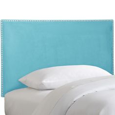 230,This delightful headboard is made to order and available in several sizes. This turquoise hue will add character to any room.