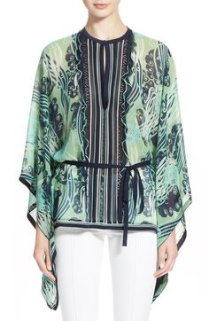 Roberto Cavalli Print Silk Caftan available at #Nordstrom