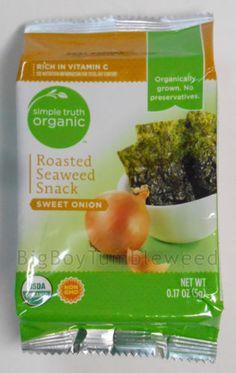 Simple-Truth-Organic-Sweet-Onion-Roasted-Seaweed-Snack-health-food-nori-dried #BigBoyTumbleweed