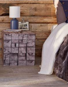 papier peint vinyle expans sur papier carrs de bois ralisez facilement une table de chevet