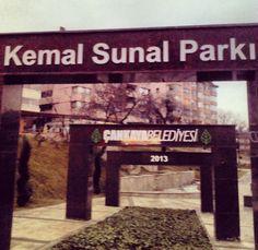 Kemal Sunal parkı Ankara Çankaya @hanifeozata webstagram