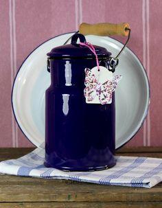 kleinere kobalt - blaue Milchkanne von FrlBetty  auf DaWanda.com