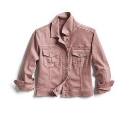Spring Stylist Picks: Pink cropped denim jacket