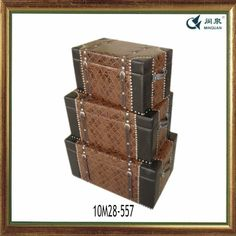 Awesome Stackable Storage Trunks | ... Trunks Display Set | Antique Storage Trunks  | Stacking Leather Storage | Room | Pinterest | Wooden Trunks And Hurricane  Lamps