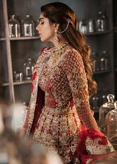 Most recent Pic Bridal Dresses pakistani Style Regardless of whether you're da. - Most recent Pic Bridal Dresses pakistani Style Regardless of whether you're daydreaming of the wedding dress because you're 5 along with know t Source by - Pakistani Bridal Lehenga, Indian Wedding Lehenga, Bridal Lehenga Online, Designer Bridal Lehenga, Shaadi Lehenga, Pakistani Bridal Couture, Latest Bridal Lehenga, Red Lehenga, Walima