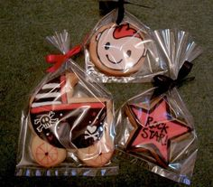 Punk Rock baby shower cookies by Frostie The Cookie, via Flickr