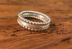 Stapel-Ring Set Silber Handarbeit 1