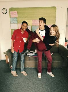 Kelli Berglund With Her Lab Rats Co Stars, Tyrel Jackson Williams And Billy Unger
