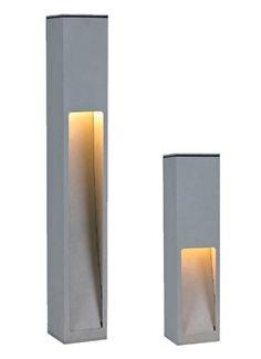 Wegeleuchte, Gartenleuchte, 45cm, silbergrau, Eco_Stand 5, 10273 Deck Lighting, Unique Lighting, Exterior Lighting, Landscape Lighting, Lighting Design, Concrete Furniture, Concrete Lamp, Concrete Design, Stone Lamp