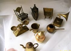 Vintage miniatures  brass and metal  miniatures  by NewtoUVintage