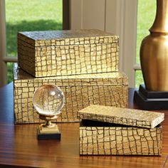 Buy the Global Views Medium Box Direct. Shop for the Global Views Medium Box - Available in 3 Sizes and save. Luxury Lighting, Luxury Home Decor, Luxury Interior Design, Interior Design Inspiration, Gold Interior, Luxury Homes, Chandeliers, Decorative Objects, Decorative Boxes