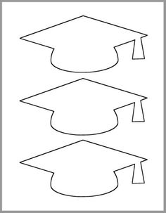 INSTANT DOWNLOAD - 3 x 6.75 inch Graduation Caps Template   This graduation cap template downloads in a pdf and is ready to print! In the download you will receive a 1 page pdf as shown in the picture.  Printed full size on 8-1/2 x 11 in paper, the graduation caps are 3 x 6.75 inches.  You can print