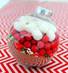 DIY Holiday Gifts: Hot Chocolate Ornaments via Honesttonod.com