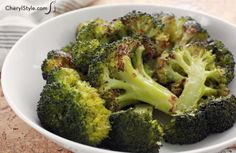 Spruce up your main meal with a side of roasted broccoli