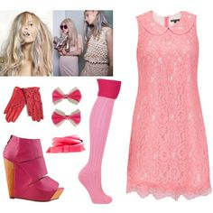Pink Harajuku, created by leiastyle on Polyvore