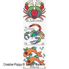 Lesley Teare Designs - Zodiac Signs zoom 1 (cross stitch chart)