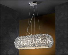 Glitzy ceiling light to add interest to any dining room or kitchen