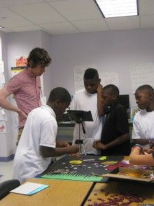 Teens at Carnegie Library of Pittsburgh create their own stop-motion animation video.