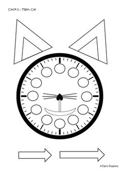 Blank clock face for little ones to practice telling time