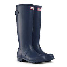 Navy Hunter Rain Boots   Winter Coat Sale - Katie's Bliss | Boots ...