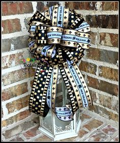 New Orleans Saints Bow Game Day  NFL Bow Wreath Bow