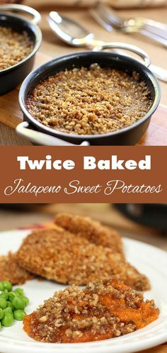 Twice-Baked Jalapeno Sweet Potatoes have just a touch of heat and are ...
