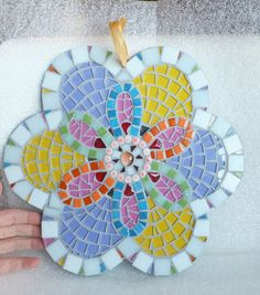 Mosaic Wall Decor Reversible Flower Mosaic with by MollycatMosaics
