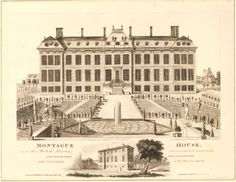 View of the garden front of Montagu House, 1813.