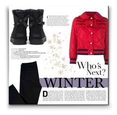 """Perfect Puffer Jackets"" by alinnas ❤ liked on Polyvore featuring Gucci, J Brand and UGG"