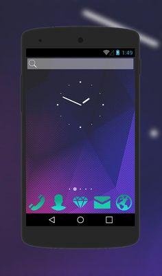 "Free Android Theme ""Energy Diamond""  http://androidlooks.com/theme/t1458-energy-diamond/   #Diamond, #android, #androidthemes, #customization, #soloLauncher"
