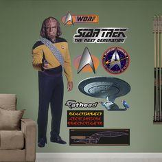 Star Trek Lieutenant Worf Wall Decal