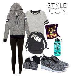 """""""Style Icon"""" by baller-lliiffee ❤ liked on Polyvore featuring DKNY, NIKE, Victoria's Secret, Victoria's Secret PINK and Junk Food Clothing"""