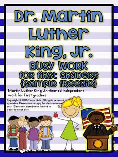 {FREEBIE} Dr. Martin Luther King, Jr. Busy Work for First Graders