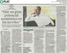 MD Group: Entrevista a Jordy Urbea en el diario El Comercio de Perú (01/08/14)