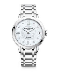 Baume & Mercier Classima Diamond, Mother-Of-Pearl & Stainless Steel Bracelet Watch