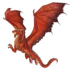 Dragon, Red (from the D&D fifth edition Monster Manual). Art by Scott M. Fischer.