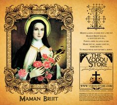 Maman Brijit (Mama Brigitte) 7-Day Candle Label via Etsy.